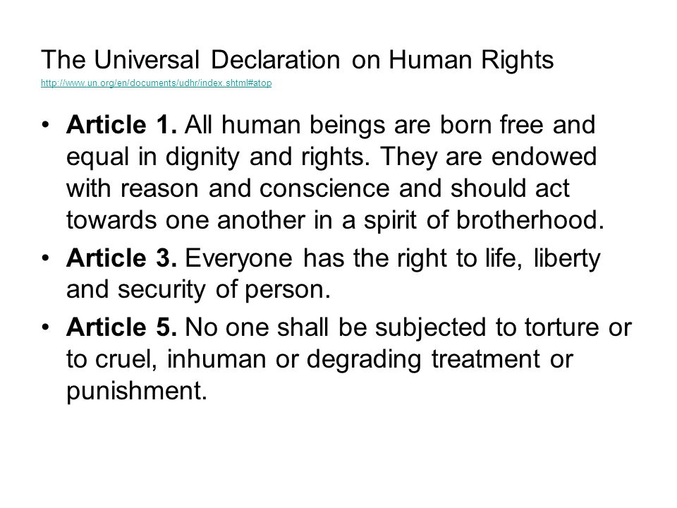 The Universal Declaration on Human Rights