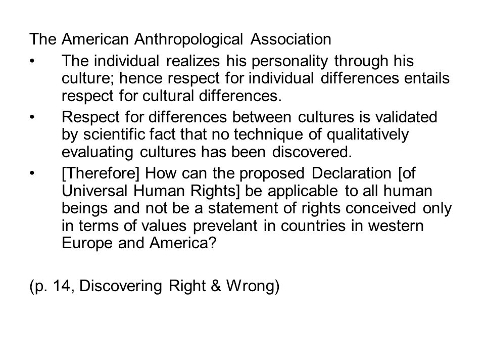 The American Anthropological Association