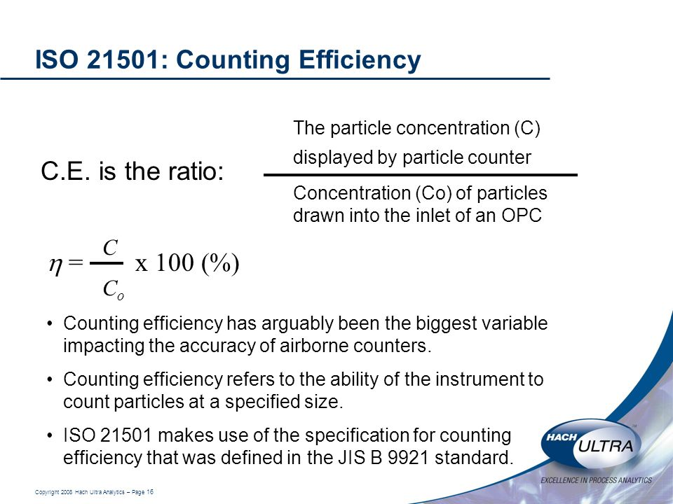 ISO 21501: Counting Efficiency