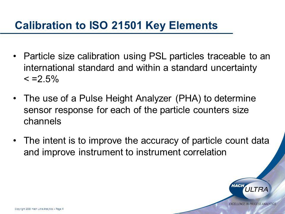 Calibration to ISO 21501 Key Elements