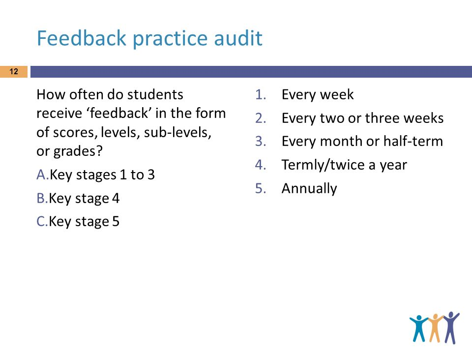 Feedback practice audit
