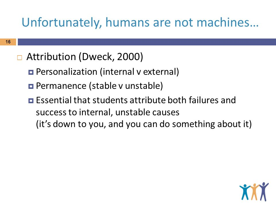 Unfortunately, humans are not machines…
