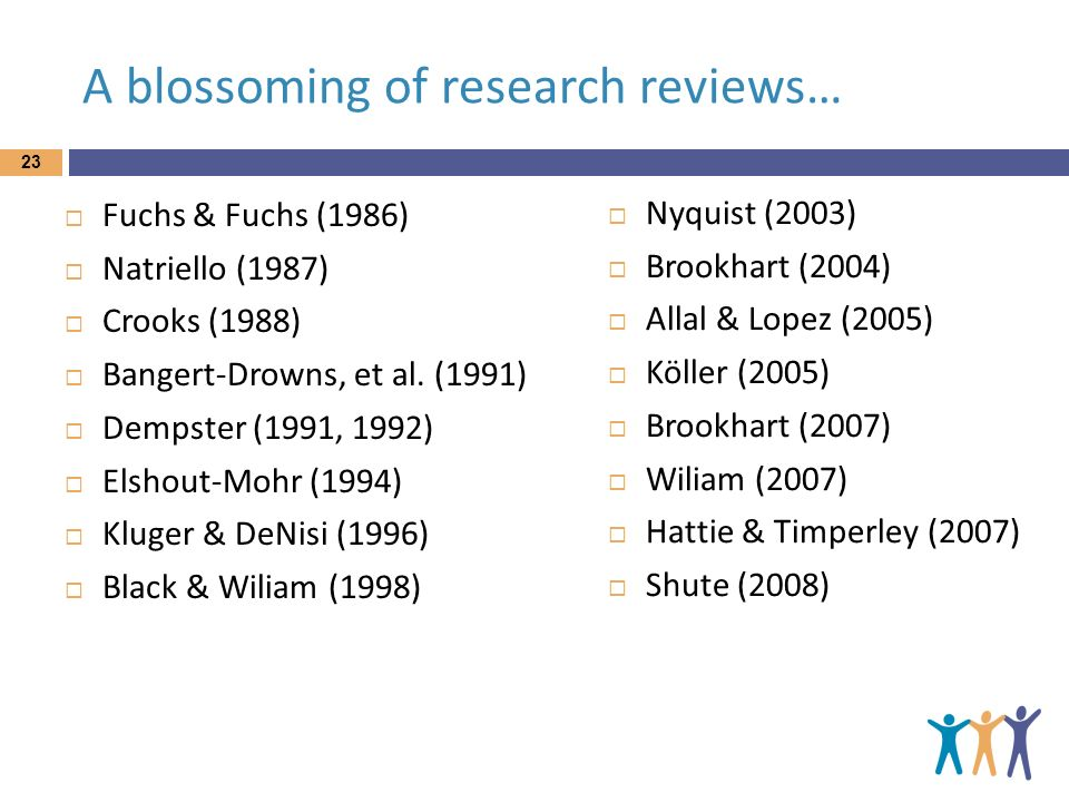 A blossoming of research reviews…
