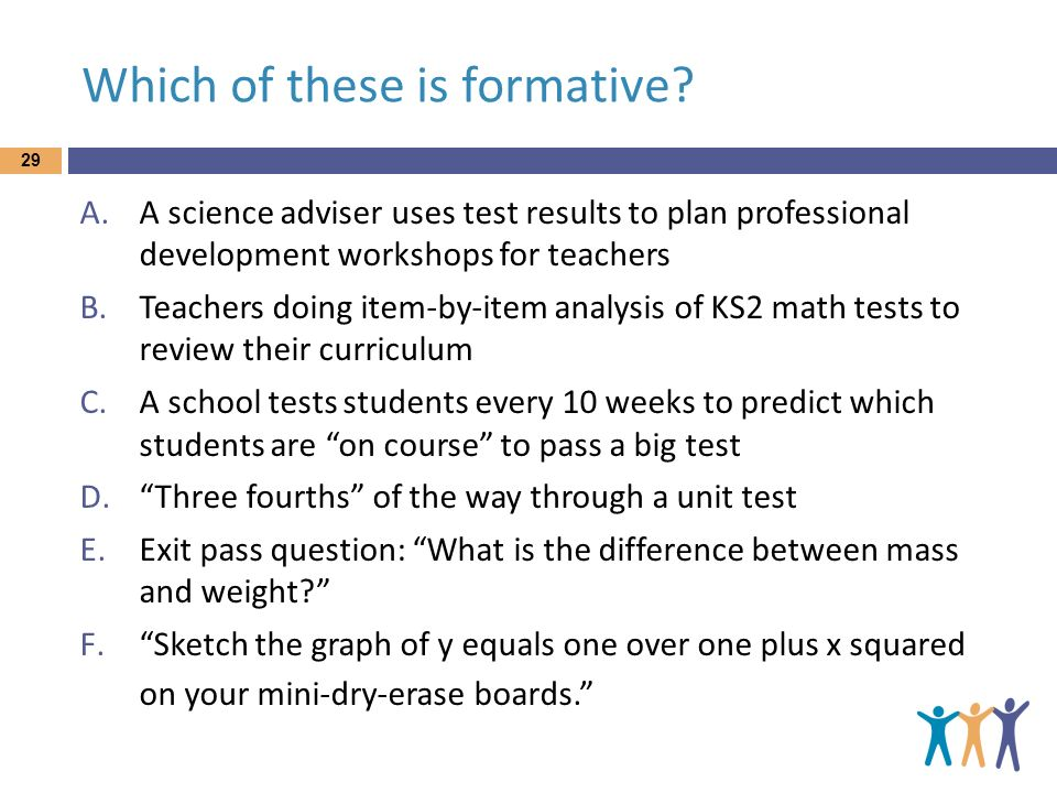 Which of these is formative