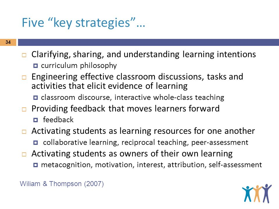 Five key strategies …