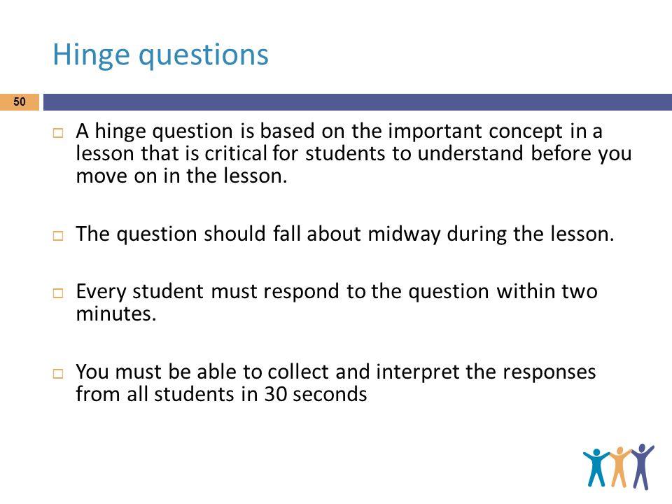 Hinge questions