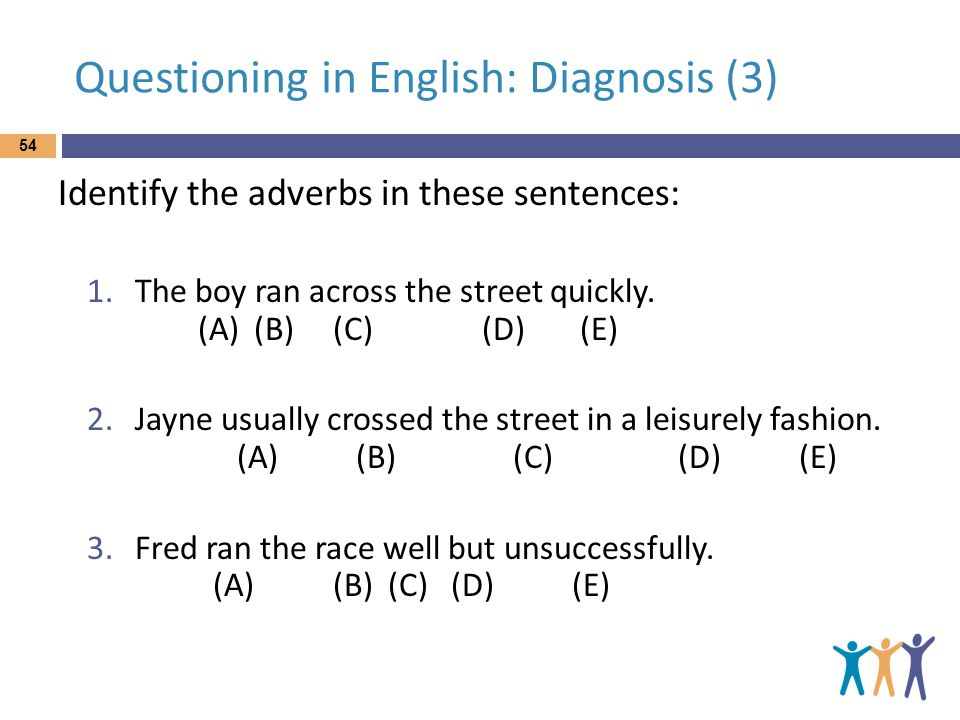 Questioning in English: Diagnosis (3)