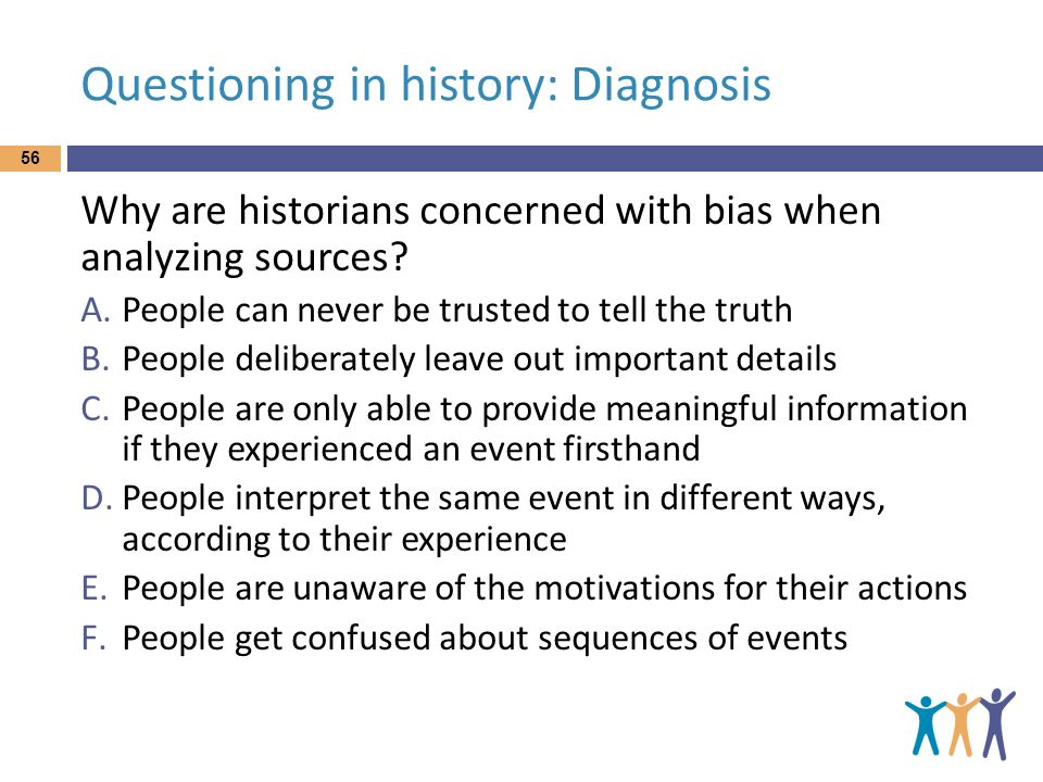 Questioning in history: Diagnosis
