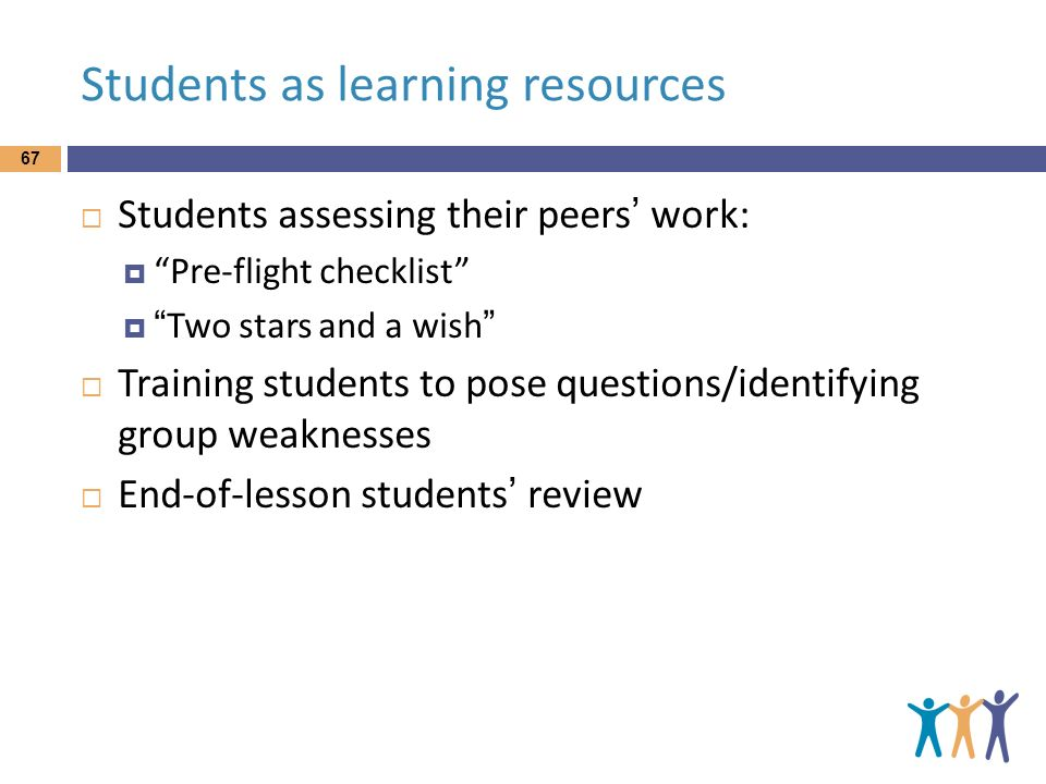Students as learning resources