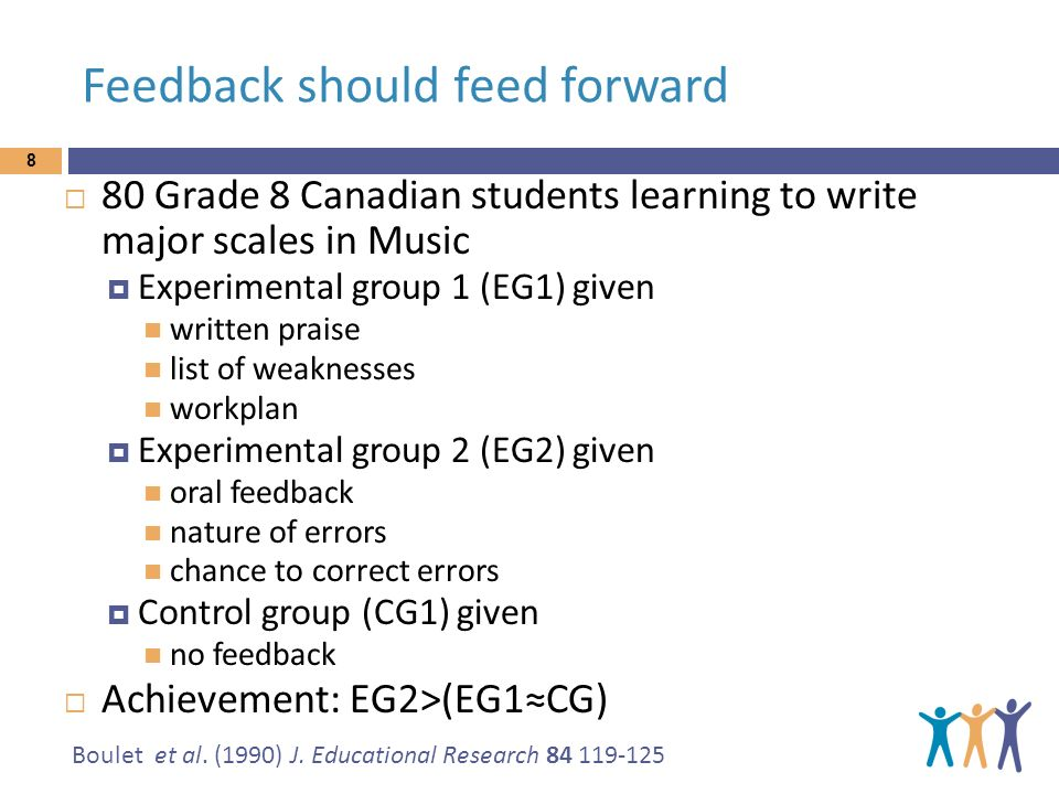 Feedback should feed forward