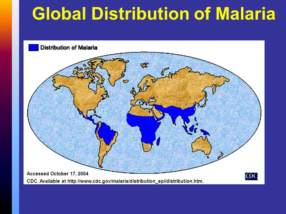 Global Distribution of Malaria