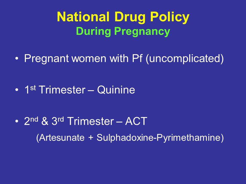 National Drug Policy During Pregnancy