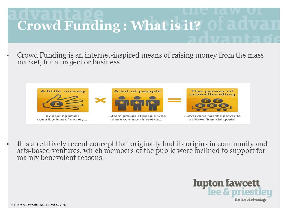 Crowd Funding : What is it