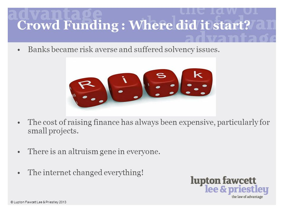 Crowd Funding : Where did it start