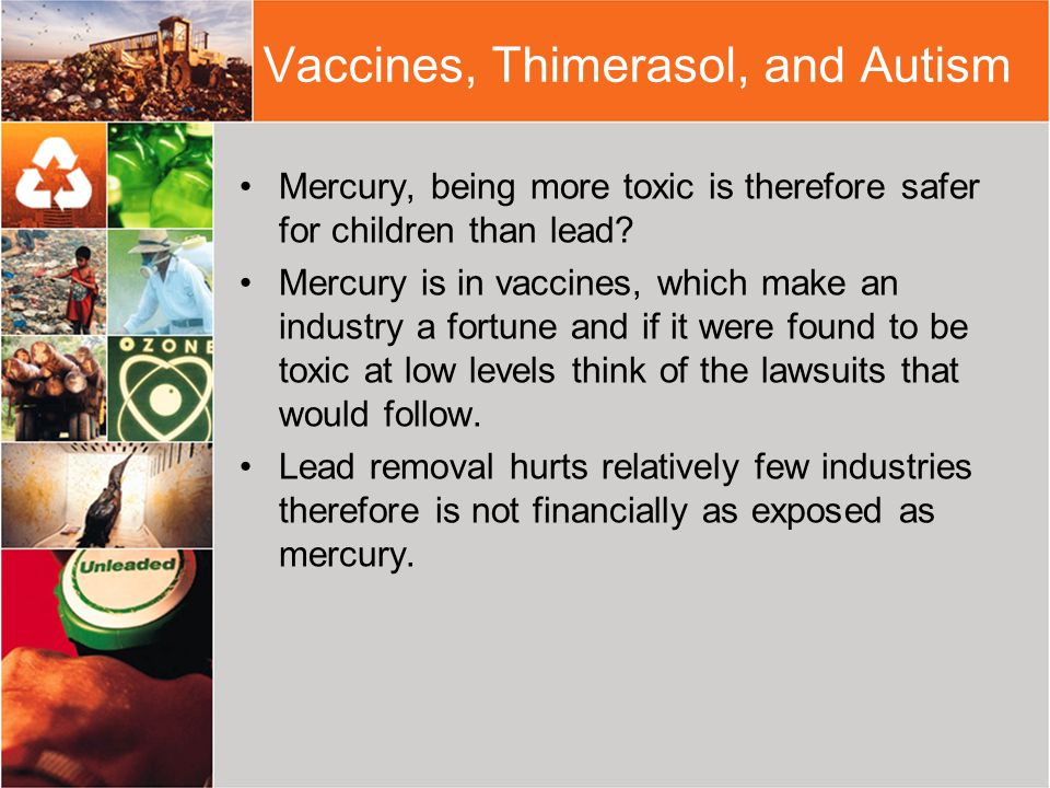 Vaccines, Thimerasol, and Autism