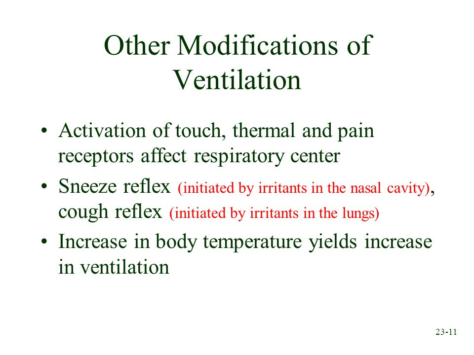Other Modifications of Ventilation
