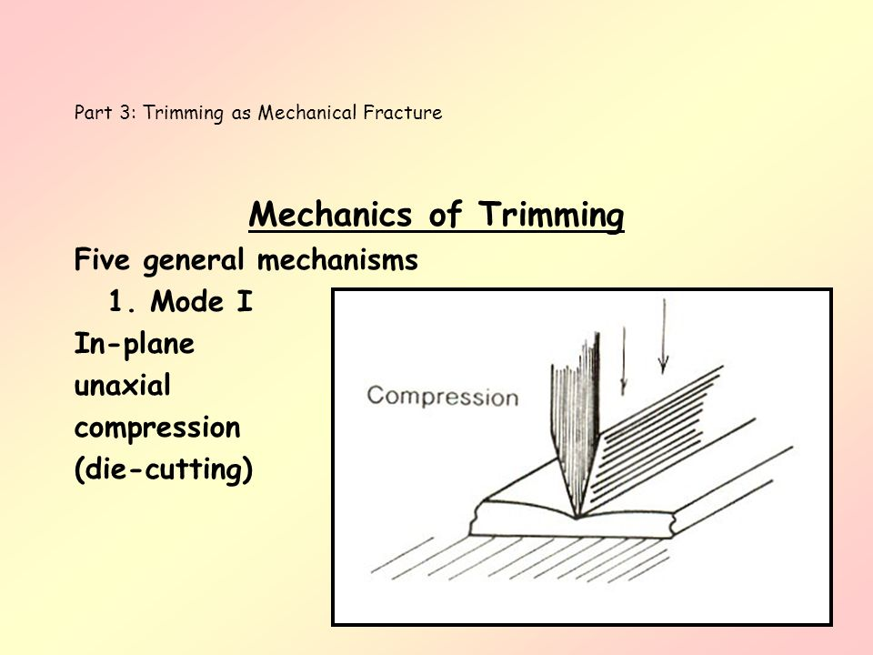 Part 3: Trimming as Mechanical Fracture