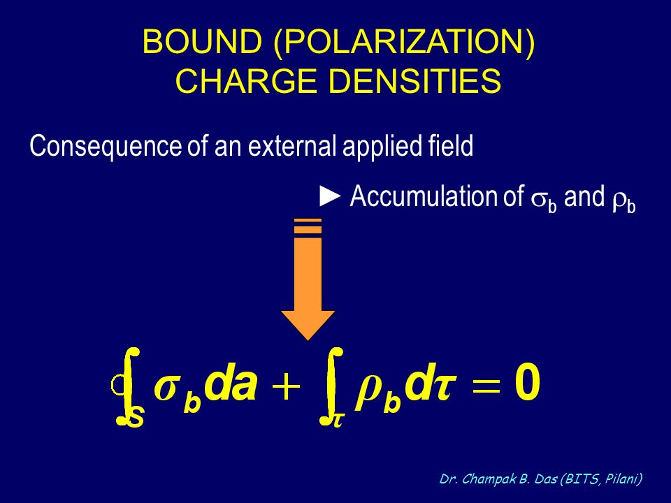 BOUND (POLARIZATION) CHARGE DENSITIES