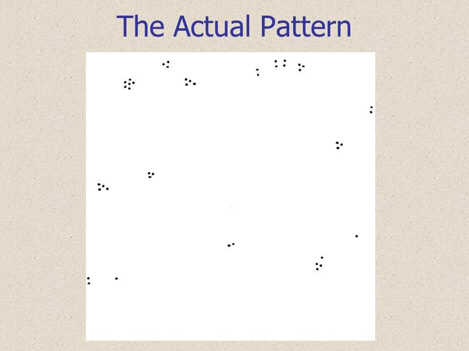 The Actual Pattern