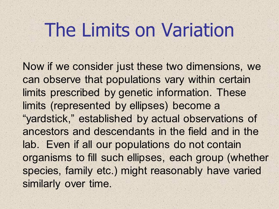 The Limits on Variation