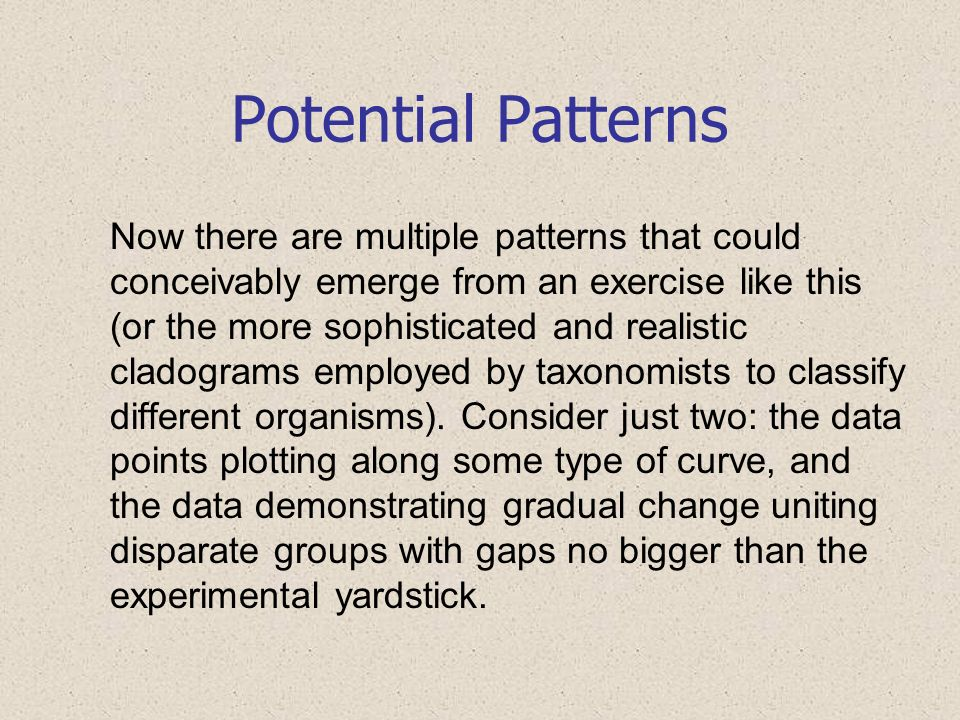 Potential Patterns