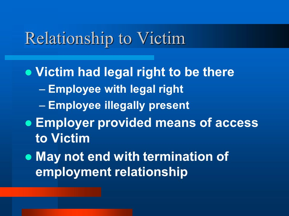 Relationship to Victim