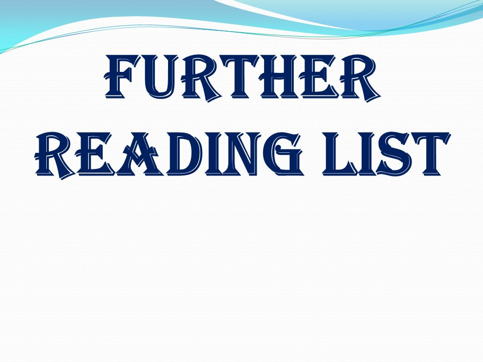 Further Reading LIST Stress