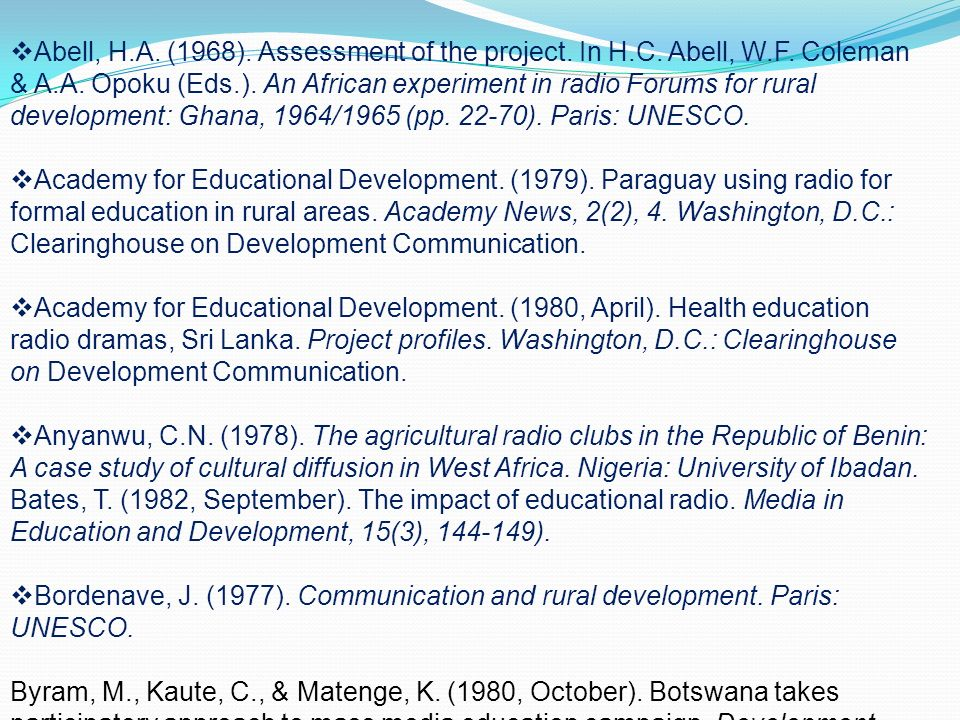 development: Case studies (Volume 2). Washington D.C.: World Bank.