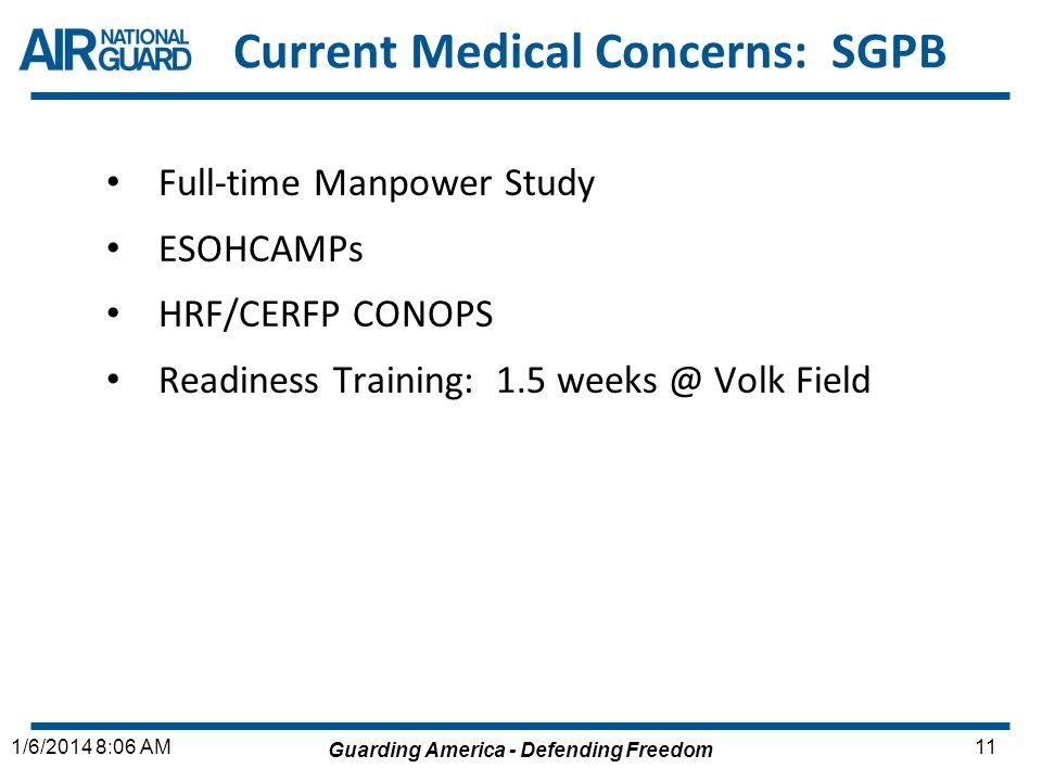 Current Medical Concerns: SGPB