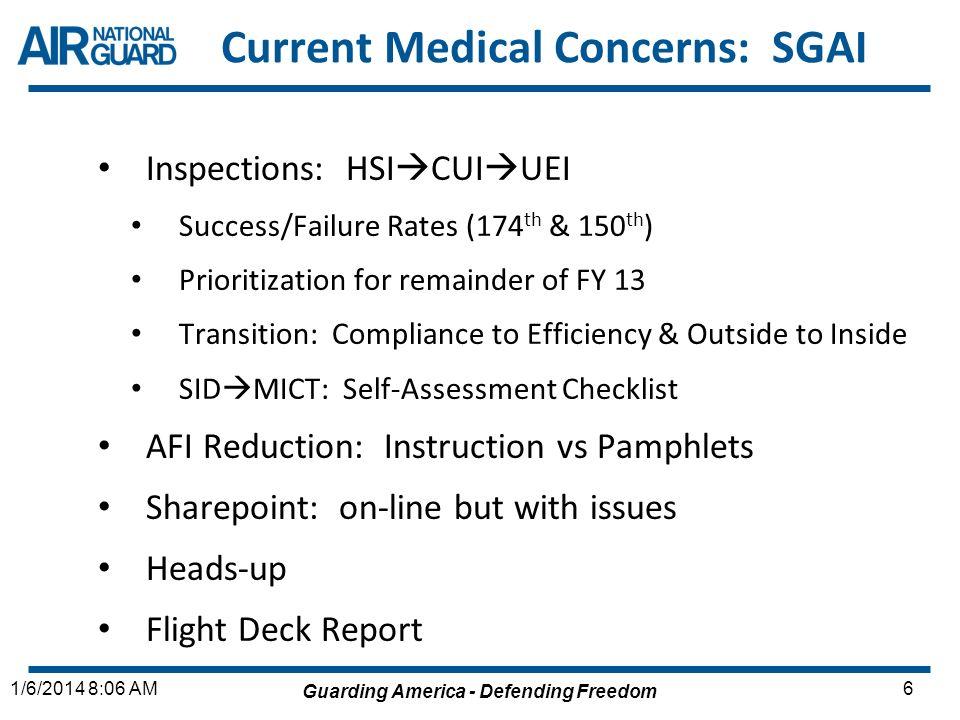 Current Medical Concerns: SGAI