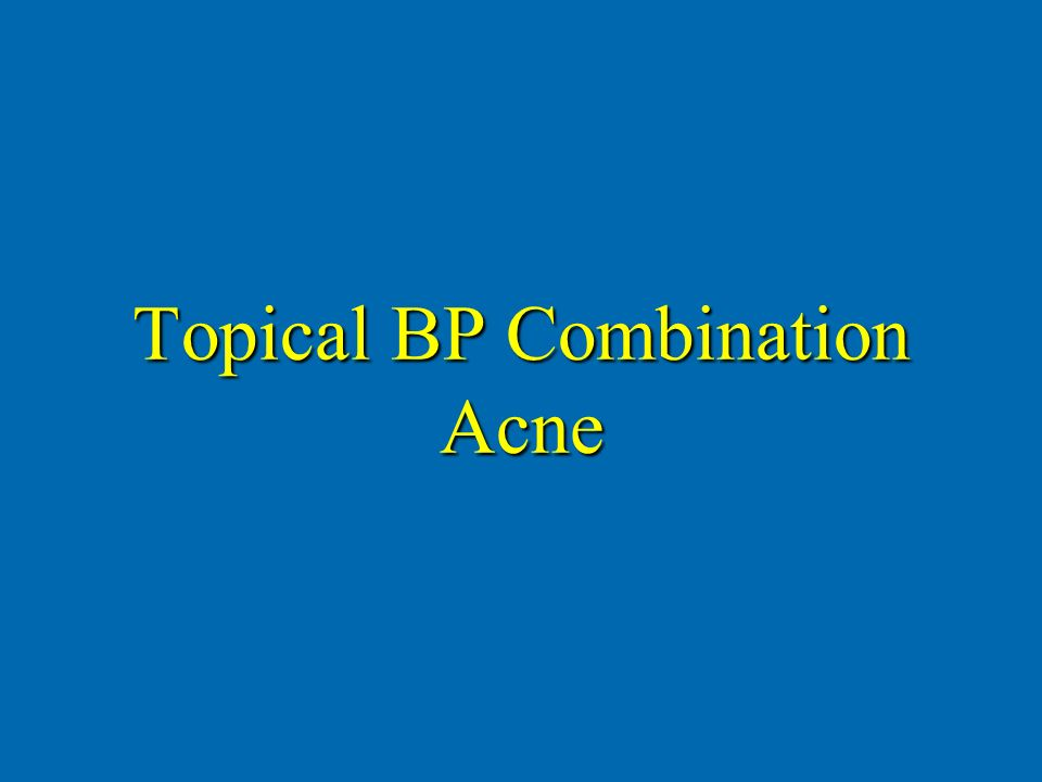 Topical BP Combination Acne