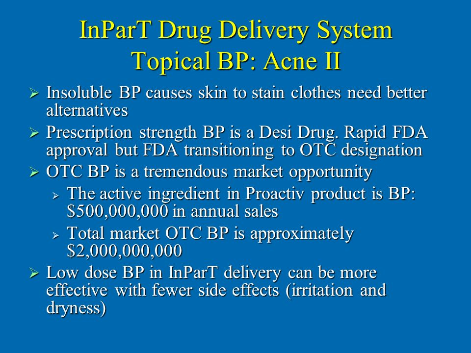 InParT Drug Delivery System Topical BP: Acne II