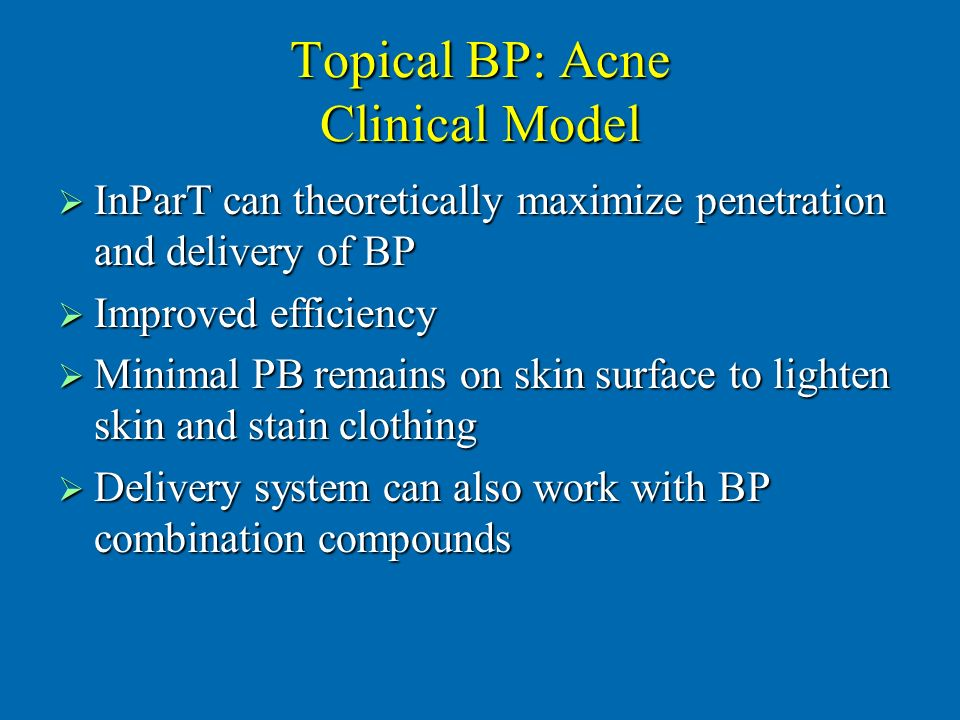 Topical BP: Acne Clinical Model