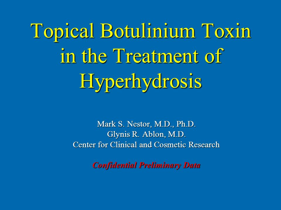 Topical Botulinium Toxin in the Treatment of Hyperhydrosis
