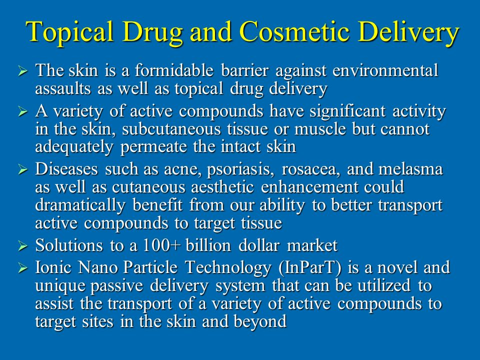 Topical Drug and Cosmetic Delivery