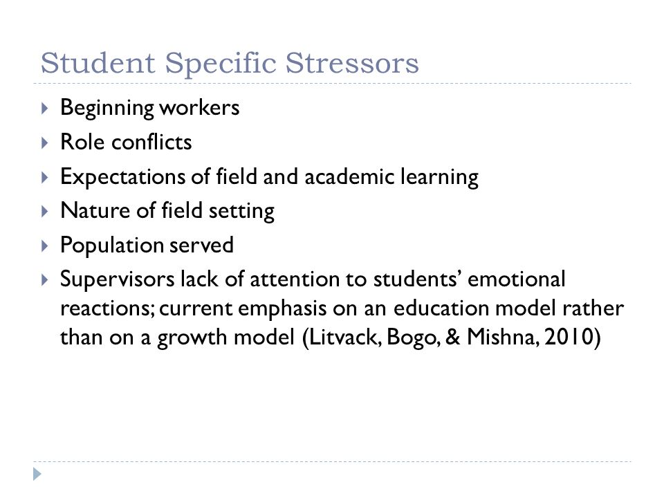 Student Specific Stressors