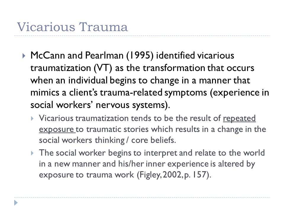 Vicarious Trauma