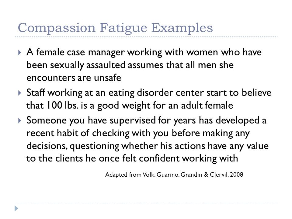 Compassion Fatigue Examples