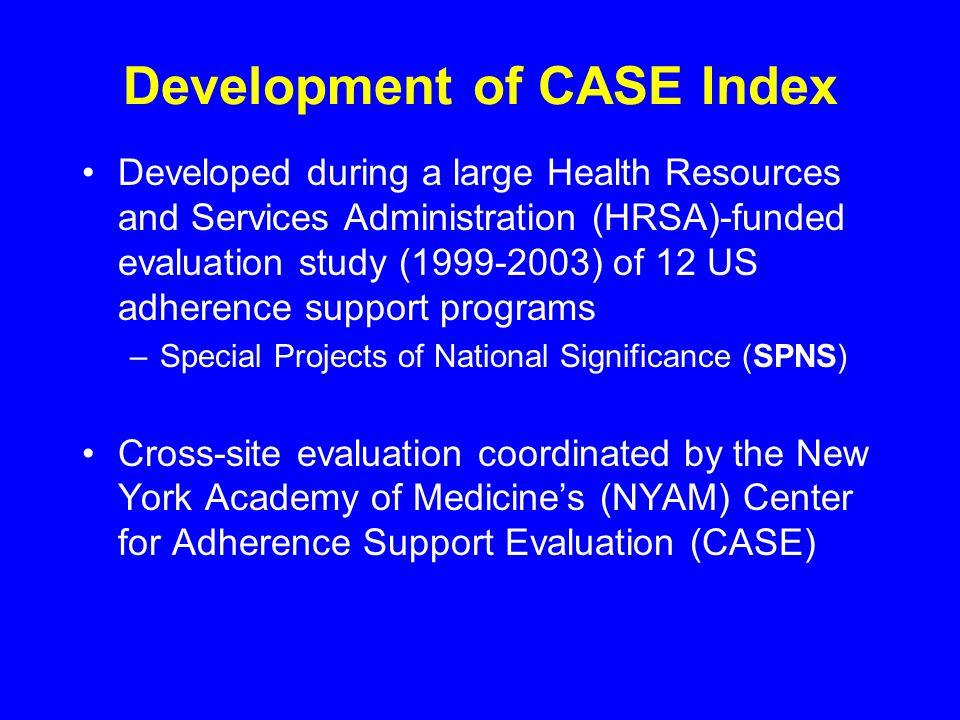 Development of CASE Index