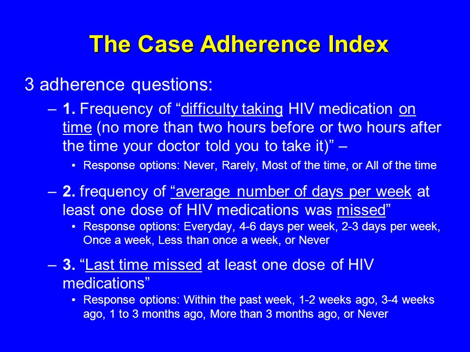 The Case Adherence Index