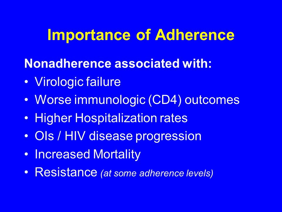Importance of Adherence