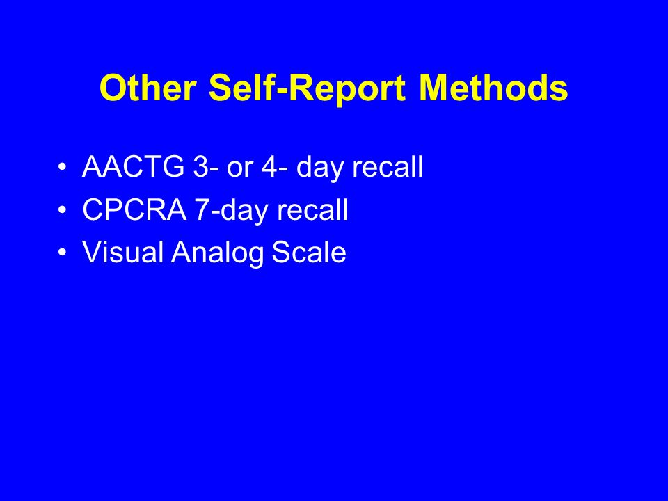 Other Self-Report Methods