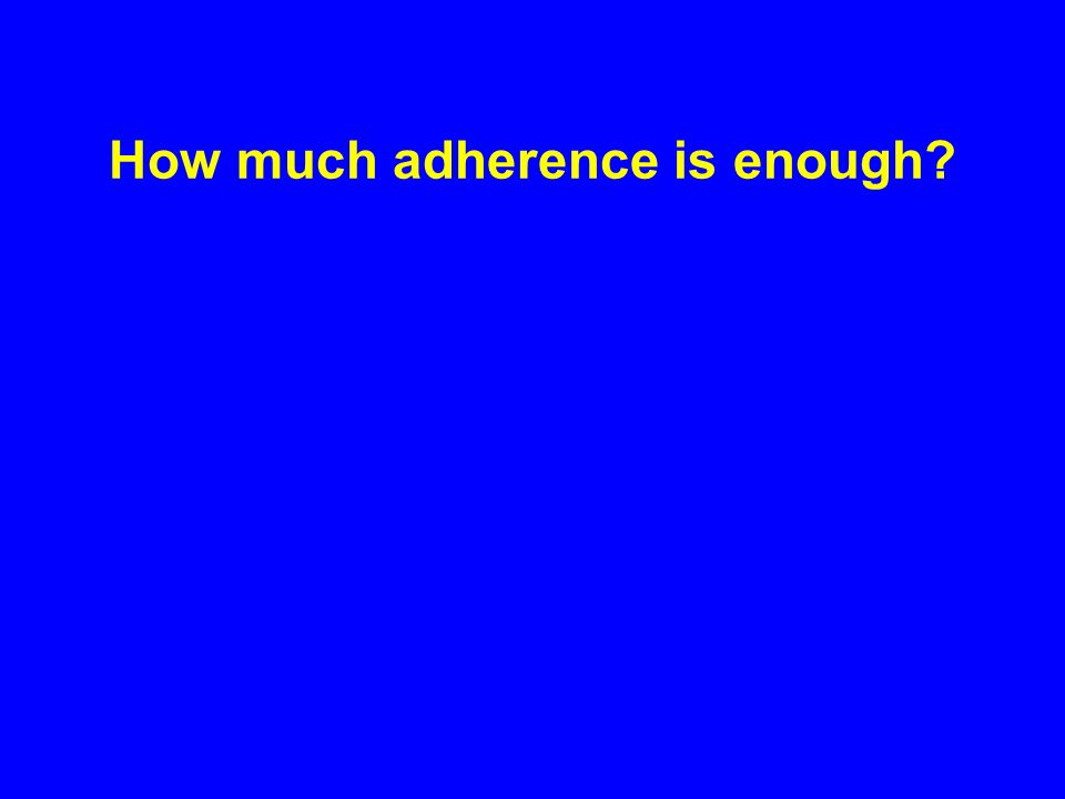 How much adherence is enough
