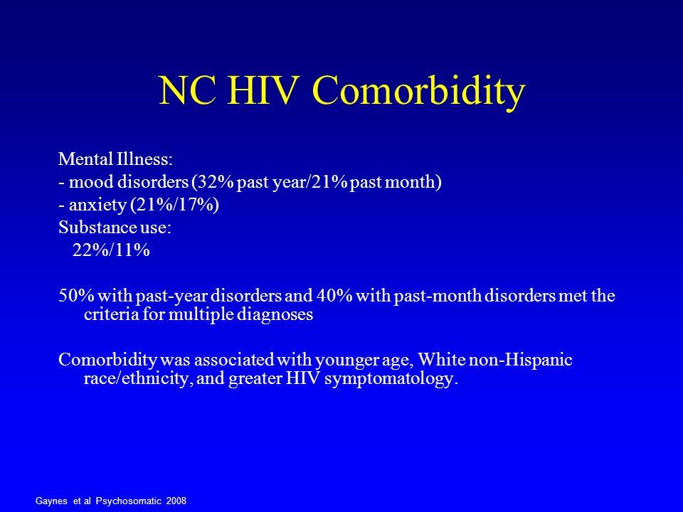 NC HIV Comorbidity Mental Illness: