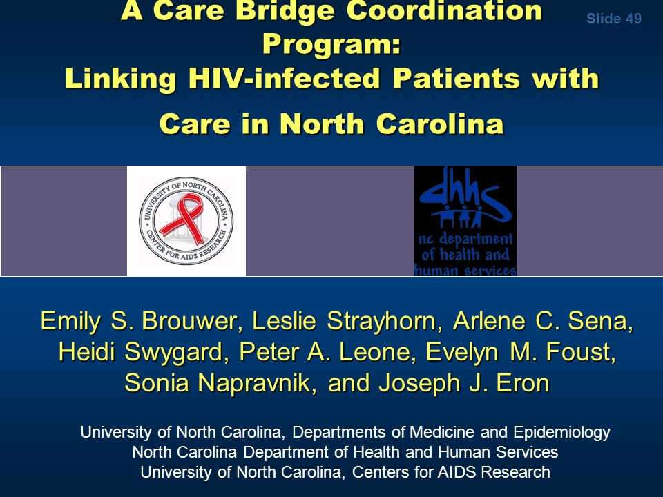 A Care Bridge Coordination Program: Linking HIV-infected Patients with Care in North Carolina