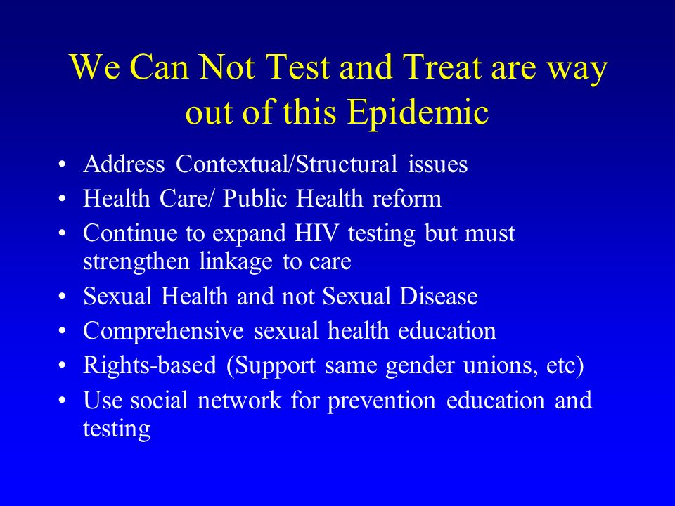 We Can Not Test and Treat are way out of this Epidemic