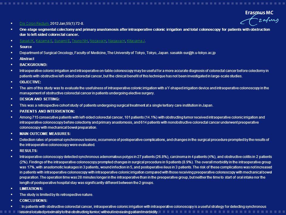 Dis Colon Rectum. 2012 Jan;55(1):72-8.