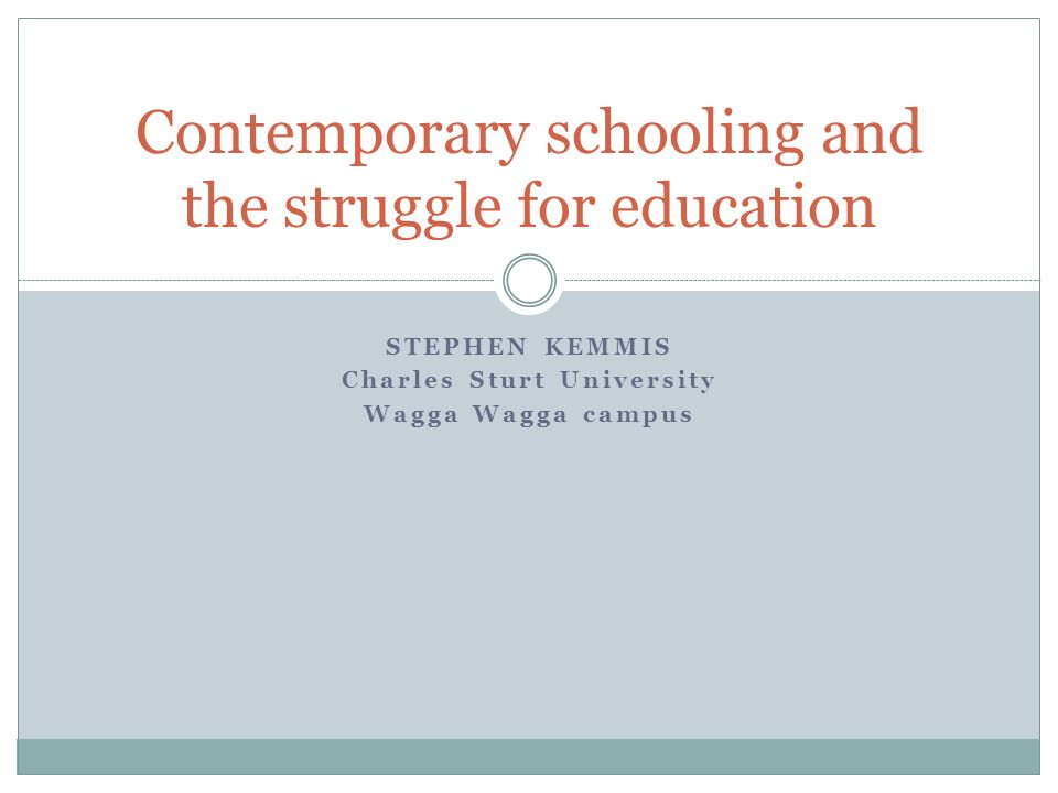 Contemporary schooling and the struggle for education