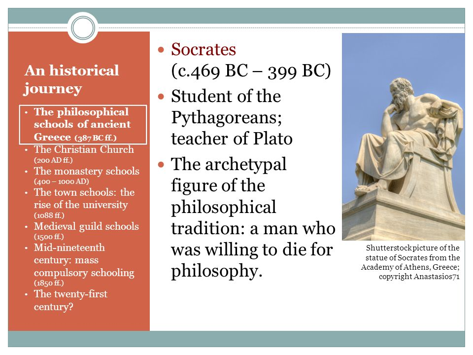 Student of the Pythagoreans; teacher of Plato