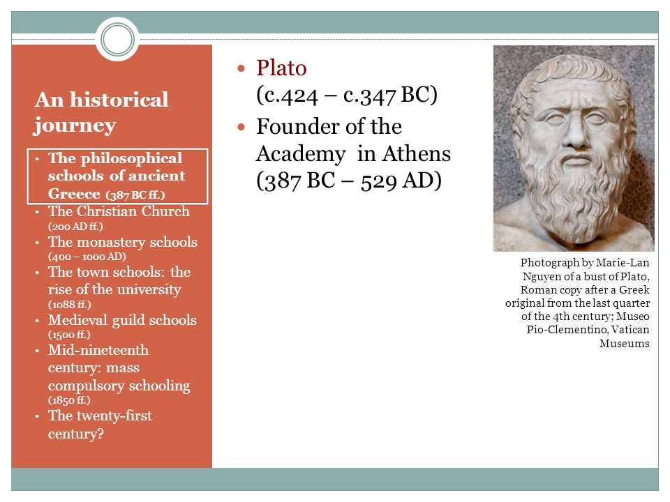 Founder of the Academy in Athens (387 BC – 529 AD)